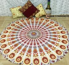 Rainbow Mandala Mats Hippie Art Cotton Great Indian Roundie Ambiance Big Picnic