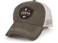 Costa Del Mar Shield Trucker Hat, Moss/Stone