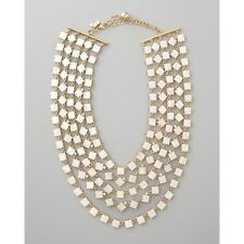Kate Spade Pearl Cove Necklace NWT Exquisite 5 Strand Mother of Pearl & Crystal