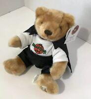 Hard Rock Cafe Teddy Plush Bear Baltimore Halloween Cape 2001 Toy Herrington