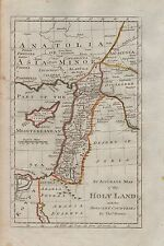 1790 Ca-ANTIQUE MAP-THOS BOWEN-ACCURATE MAP OF THE HOLY LAND