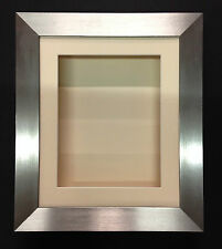 12x10 BRUSHED SILVER (55mm) DEEP 3D SHADOW BOX,CASTS,FLOWERS,MEDALS,3D FRAMING