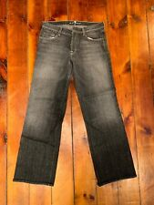 Men's 7 for All Mankind Relaxed Bootcut Black Denim Jeans Size 33 x 34