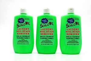Soilove Laundry Soil-Stain Remover 16oz 3 / 6 / 9 Packs ( Made in USA )