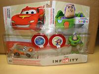 Disney Infinity Figures Buzz Lightyear & Lightning McQueen Crystal NEW in packag