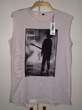 THE CURE BOYS DON'T CRY (DISTRESSED) OFFICIAL VEST, T-SHIRT  SIZE LARGE NEW RARE
