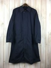 Vintage Army US Military All Weather Trench Rain Coat Navy Removable Liner 40 L