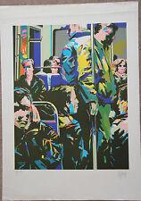 Phililppe BEZARD - Lithographie signée numérotée métro Paris France