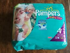 Vintage Pampers Baby Dry taille 4 Size 4 - 32 Diapers ABDL couches
