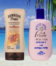 HAWAIIAN TROPIC SPF15 SPRAY LOTION & AFTER SUN TANNING LOTION TAN LOTION TAN OIL