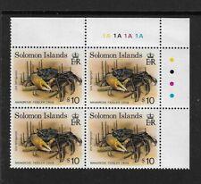 1993 SOLOMON ISLANDS - $10 MANGROVE CRAB -CORNER BLOCK WITH TRAFFIC LIGHTS - MNH