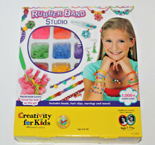 Rubber Band Studio Creativity For Kids Loom Beads Hair Clips Earrings New Craft