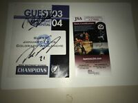 Colorado avalanche  guest credentials one of a kind signed jsa  Selanne Forsberg
