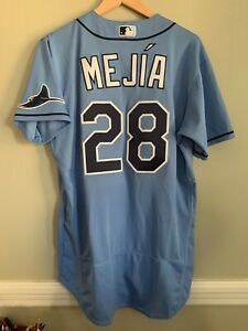 Francisco Mejia Tampa Bay Rays 2021 MLB Holo Team Issued Jersey Colombia Blue