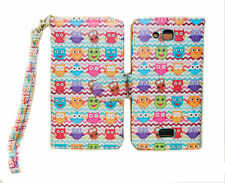 Colorful Owl Chevron Design Wallet Leather Case Kyocera Hydro Wave C6740