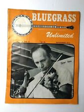 Bluegrass Unlimited Magazine November 1973 Nashville Bill Monroe, Tater Tate