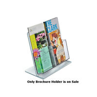 Lot of 2 New L-Shape Multi-Pocket Counter Brochure Holders w/ 2 Tri-fold Pockets