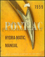 1959 1958 Pontiac Hydra Matic Transmission Shop Manual