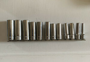 """Snap-On 3/8"""" Drive Deep 12 Point Metric Socket Set- Like New (Snapon Snap On)"""