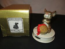 Music Box Christmas Mouse My Favorite Things Musical Otagiri Vintage (FF61)