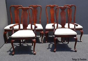 Six Vintage French Chippendale Style Dining Chairs by American of Martinsville