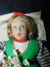 """Antique Lenci Cloth Doll 10"""" Tall"""