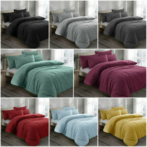 Teddy Bear Bedding Duvet Set Quilt Cover Extra furry Warm, Fluffy & Cosy Range
