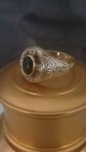 9ct Gold Celtic Cross Style Ring Size 11.5