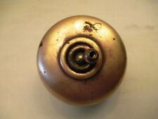 Vintage Brass & Ceramic Porcelain Light Electric Switches Button Made British #1