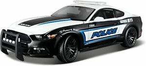 Diecast Model Police Car 1:18 Scale - Maisto 2015 Ford Mustang GT Police
