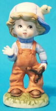 Vintage Homco Boy With Bird and Slingshot Figurine Pristine Condition