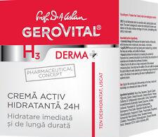 Crema idratazione attiva 24h Active moisturizing Cream Gerovital H3 Derma+