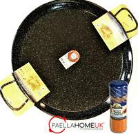 20cm  ENAMELLED STEEL PAELLA PAN PROFESSIONAL + SAFFRON PAELLA MIX GIFT