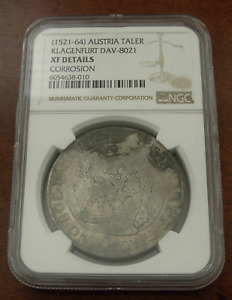 Austria Klagenfurt 1521-64 Silver Taler NGC XF Details