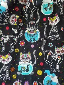 Black Spooky Cats Dress Retrolicious Modcloth L