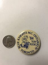 BLUE KNIGHTS VINTAGE OBSOLETE POLICE MOTORCYCLE RARE RIDING CLUB PIN BUTTON