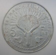 SOMALILAND FRENCH 5 FRANCS 1948 ALUMINUM KM6 AFRICA SCARCE 66# WORLD MONEY COIN