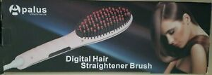 Apalus Black & Turquoise Digital Hair Straightener Brush-Box opened for pictures