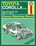 Haynes Workshop Manual Toyota Corolla 1983-1987 FWD New Service Repair