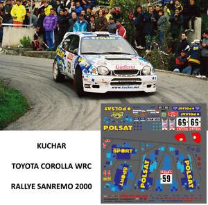 DECALS Kuchar Toyota Corolla WRC Rally Sanremo 2000 1/43 1/24 1/18