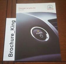 TOYOTA Passenger Car Range List May 2005 YARIS Corolla Etc Brochure