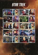 More details for gb star trek stamps 2020 mnh captains picard kirk janeway sisko 10v s/a m/s