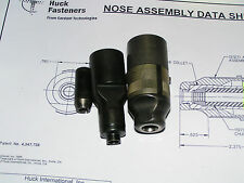 "HUCK 99-2563 SHORT 1/4"" DIA. NAS/GP LOCKBOLT NEW NOSE ASSY. (MISSING SPACER)"