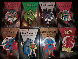 DC ARCHIV EDITION # 1+2+3+4+5+6+7+8 - BATMAN - JLA - SUPERMAN- DINO VERLAG - OVP
