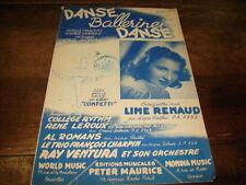 LINE RENAUD - Danse ballerine danse - PARTITION !!!!!!!