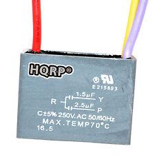 HQRP Capacitor de Motor para Hampton Bay 1.5uf+2.5uf, 3-Alambres CBB61 Reemplazo