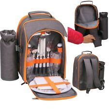 GEEZY 2 Person Picnic Backpack Hamper Insulated Cooler Bag Cool Bottle Holder