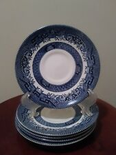 Set of 5 Churchill England Blue Willow Pattern Saucers