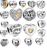 silver GOLD OPENWORK HEART charm bead fits 925 sterling european bracelet Bangle