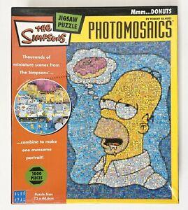 THE SIMPSONS Photomosaics Jigsaw Puzzle 1000 PIECE, 5 missing pieces